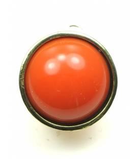Oranje oorclips met goudkleurige rand