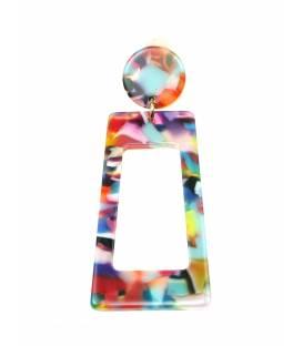 Gekleurde langwerpige rechthoekige oorclips
